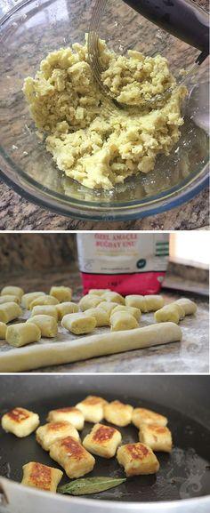 Nhoque grelhado de batata doce com manteiga e sálvia