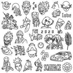 Anime Tattoos, Leg Tattoos, Body Art Tattoos, Sleeve Tattoos, Tatoos, Sketch Tattoo Design, Tattoo Sketches, Tattoo Drawings, Tattoo Designs