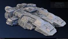 SGA Travellers Ship by Gus Yamin | 3D | CGSociety