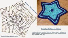 Crochet ripple blanket or can make a bigger rug chart pattern Crochet Rug Patterns, Crochet Motifs, Crochet Diagram, Crochet Doilies, Crochet Stitches, Crochet Diy, Crochet Lovey, Crochet Round, Crochet Star Blanket