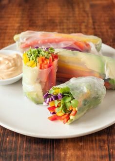Recipe: Rainbow Vegetable Spring Rolls