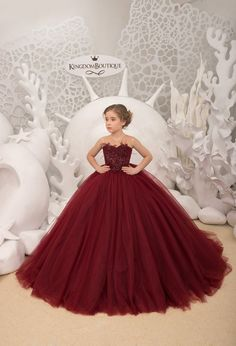 Maroon Flower Girl Dress – Birthday Wedding party Bridesmaid Holiday Maroon Lace Flower Girl Dress Maroon Flower Girl Dress Compleanno Festa nuziale Damigella d'onore Lace Flower Girls, Lace Flowers, Flower Girl Dresses, Girls Formal Dresses, Little Girl Dresses, Princess Dresses For Girls, Baby Dress, The Dress, Kids Gown