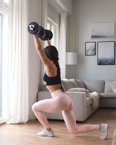Workout at Home With Dumbbells – Fitness&Health&Gym For Women Fitness Workouts, Full Body Workouts, Fitness Routines, Ab Workouts, Fitness Tips, At Home Workouts, Fitness Goals, Fitness Outfits, Fitness Activities