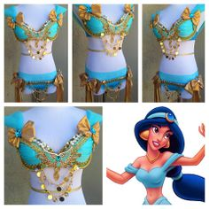 Princess Jasmine inspired rave outfit