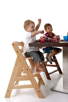 Hauck Alpha Wooden Highchair - Natural Finish - This wonderful wooden Highchair is is ideal for parents who place emphasis on safety, design and functionality. Seat Pads, First Baby, Foot Rest, Future Baby, Chair, Projects, Kids, Shopping, Furniture