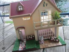 Great House Restoration - Shades of Tangerine -  Calico Critters - Charming Country Home