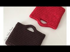Penye ipten el çantası yapımı -1 (spagetti yarn XXLace ) - YouTube