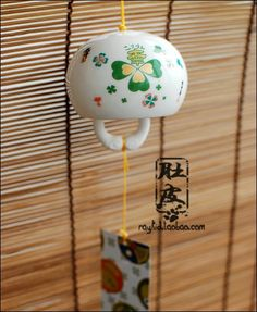 Aliexpress.com : Buy Ceramic japanese style windbags   four leaf lucky grass wind chimes car hanging gift from Reliable car accessories gift suppliers on TGLOE. $8.36