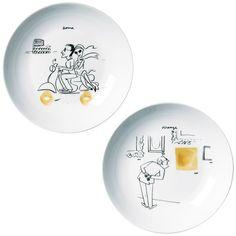 Lot d'assiettes design originales Assiette Design, Cadeau Design, Decorative Plates, Tableware, Gallery, Check, Home Decor, Pasta Types, Dinner Plates