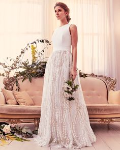 Ted Baker SILVYA Floral embroidered maxi dress with train - ShopStyle Bridal Gowns Wedding Show, Wedding Day, Ivory Wedding, Budget Wedding, Wedding Bells, Dream Wedding, Perfect Wedding Dress, One Shoulder Wedding Dress, Bridal Gowns