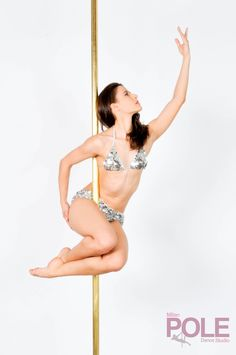 """""""Bird of paradise"""" pose variation for pole dance."""