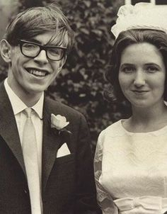 Stephen Hawking and most importantly Jane Wilde<<<such a cute picture!!