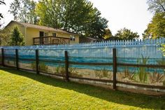 Heart-Stopping DIY Living Fence Art Ideas - Terenosonline Front Yard Fence, Farm Fence, Pool Fence, Backyard Fences, Backyard Landscaping, Front Yards, Backyard Beach, Horse Fence, Luxury Landscaping