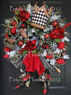 "Made to Order Item-Christmas Wreath-Valentines ""THE QUEEN"" Door Decoration (please read full description) 2012 Limited Availability"