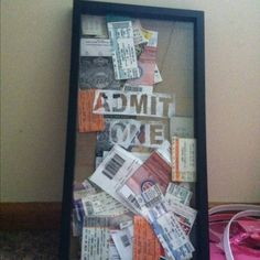 Awesome Ticket stub display. Need to make this asap.