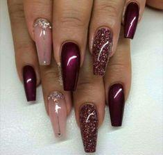 Charming Burgundy Nails 7