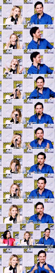 Colin O'Donoghue, Jennifer Morrisona and Lana Parilla at San Diego Comic Con 2016 - 23 July 2016