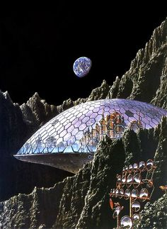 Moon Colony by Tim White.  #MoonColony  #TimWhite