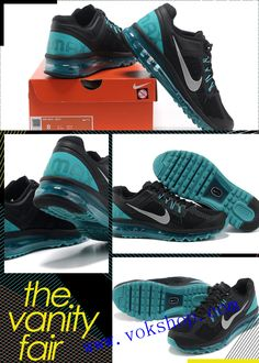 2f73cc44c86 New cheap nike air max 2013 mens black Breathable mesh running shoes  58  for wholesale size