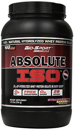 Bio-Sport USA Absolute ISO, Natural Hydrolyzed Whey Protein Isolate with No…