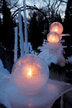 Ice Globe Lanterns, Made Easy