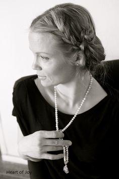 Howlite Mala Beads - howlite beads with a crystal quartz guru bead.