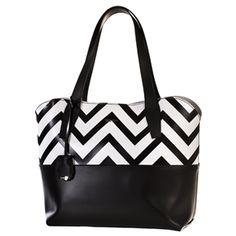 Bolso de piel Bridas combinado en color negro y blanco | clenapal.com