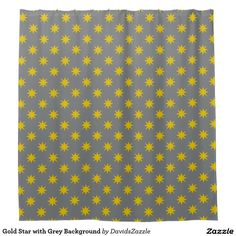 Gold Star with Grey Background Shower Curtain Available on many products! Hit the 'available on' tab near the product description to see them all! Thanks for looking!  @zazzle #art #star #pattern #shop #home #decor #bathroom #bedroom #bath #bed #duvet #cover #shower #curtain #pillow #case #apartment #decorate #accessory #accessories #fashion #style #women #men #shopping #buy #sale #gift #idea #fun #sweet #cool #neat #modern #chic #navy #blue #black #orange #grey #gray #yellow #gold #purple