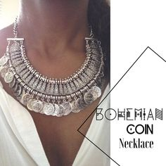 Boho Coin Necklace Boho coin statement necklace. Beautiful piece and has some weight to it, but also comfortable. An eye catcher and a fashion statement. Can be adjusted on closure.   ▪️NWT  No Trade Jewelry Necklaces