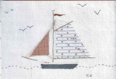 Hand Embroidery Patterns, Embroidery Applique, Machine Embroidery, Mini Quilts, Children's Quilts, Fabric Pictures, Creative Embroidery, Thread Painting, Japanese Embroidery
