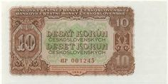 Image and catalog values for Czechoslovakia pick 10 Korun from buy paper money online Vintage World Maps, Decorative Boxes, Coins, Retro, European Countries, Czech Republic, Art, Historia, Crests