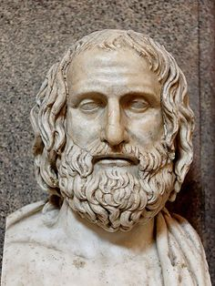 Euripides - ancient Greek playwright was one of the three great tragedians of classical Athens, the other two being Aeschylus and Sophocles. Some ancient scholars attributed nin. Classical Athens, Classical Period, Greek History, Art History, Ancient Art, Ancient History, Alphonse Daudet, Greek Tragedy, Greek Culture