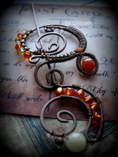 Wire Wrapped brooch by Lirimaer86 hair doodle