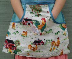 Egg apron, reversible apron, gathering apron, clothespin apron,handmade apron,harvest apron,gardening apron,chicken apron,holds a dozen eggs
