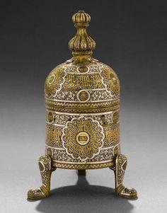 Brass incense burner, Egypt or Syria