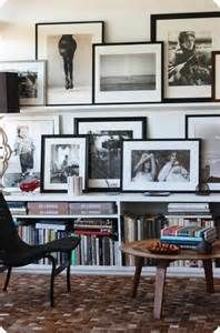 picture frames on shelves | Home