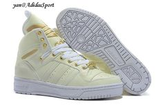 Adidas Originals Jeremy Scott grande de la lengua Glow In The Dark Crema de Oro Blanco Comprar Barcelona