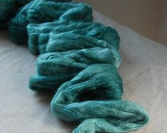 Check out IRISH SEA Merino Silk blend Colour on woolfinchstudio Mixed Fiber, Irish Sea, Beautiful Figure, Fiber Art, Arts And Crafts, Pure Products, Handmade, Etsy, Color