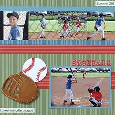 sport scrapbooks ideas | Baseball Scrapbook Page Idea and Free Scrapbook Page Sketch 2