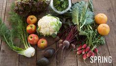 Spring veggies & fruit