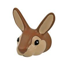 Mooi kinderkapstokje in de vorm van een konijnenhoofd; leuk te combineren met de andere bosdieren kapstokjes van the Zoo.