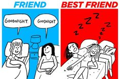 How You Act Around Your Friends Vs. Your Best Friend