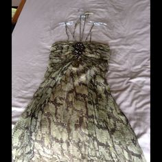 Laundry Olive Green Snake Print Dress