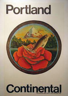 Travel Vintage US Portland Poster