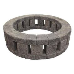 Mutual Materials Stonehenge 58 in. x 16 in. Concrete Fire Pit Kit in Cascade - The Home Depot