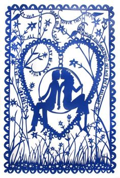 Rob Ryan's beautiful paper cut 'Believe In Goodness'. saw a lovely set of his work at Charleston UK last year.