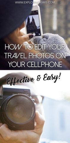 Travel Photography Features - How to Edit Your Travel Photos on Your Cell Phone | Travel Tips ... See more @gr8traveltips