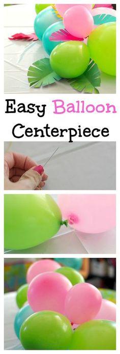 Easy Balloon Centerpiece
