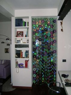 recycle CDs to build an indoor curtain/door