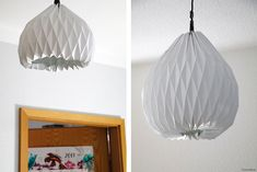 Origami DIY Lampe mit Anleitung - Grafikdesign-Fotografie-Food-Blog Origami Lampshade, Diy Origami, Grafik Design, Lampshades, Paper Art, Diy And Crafts, Ceiling Lights, Blog, Craft Ideas